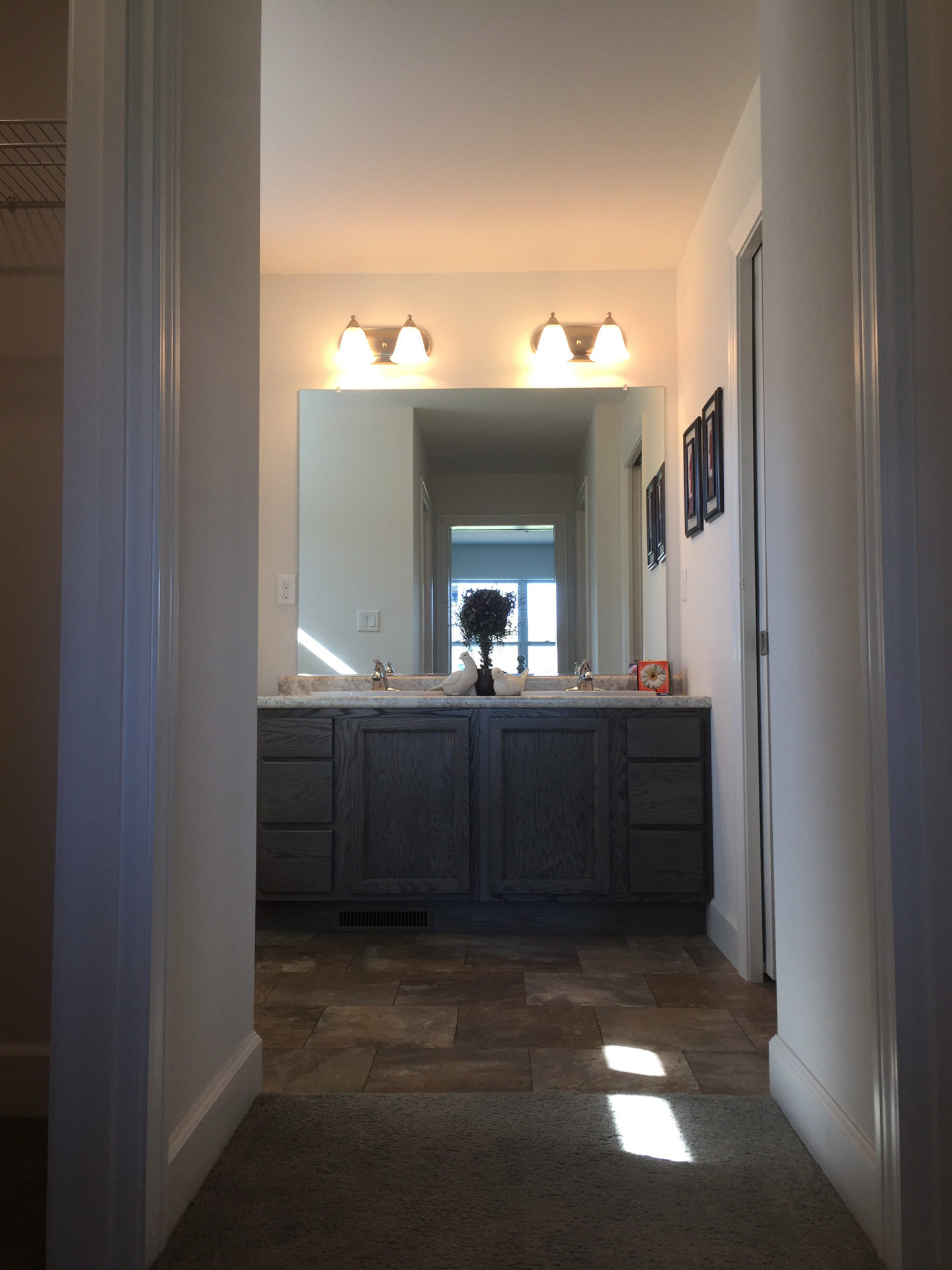 Andover master bath with two closets