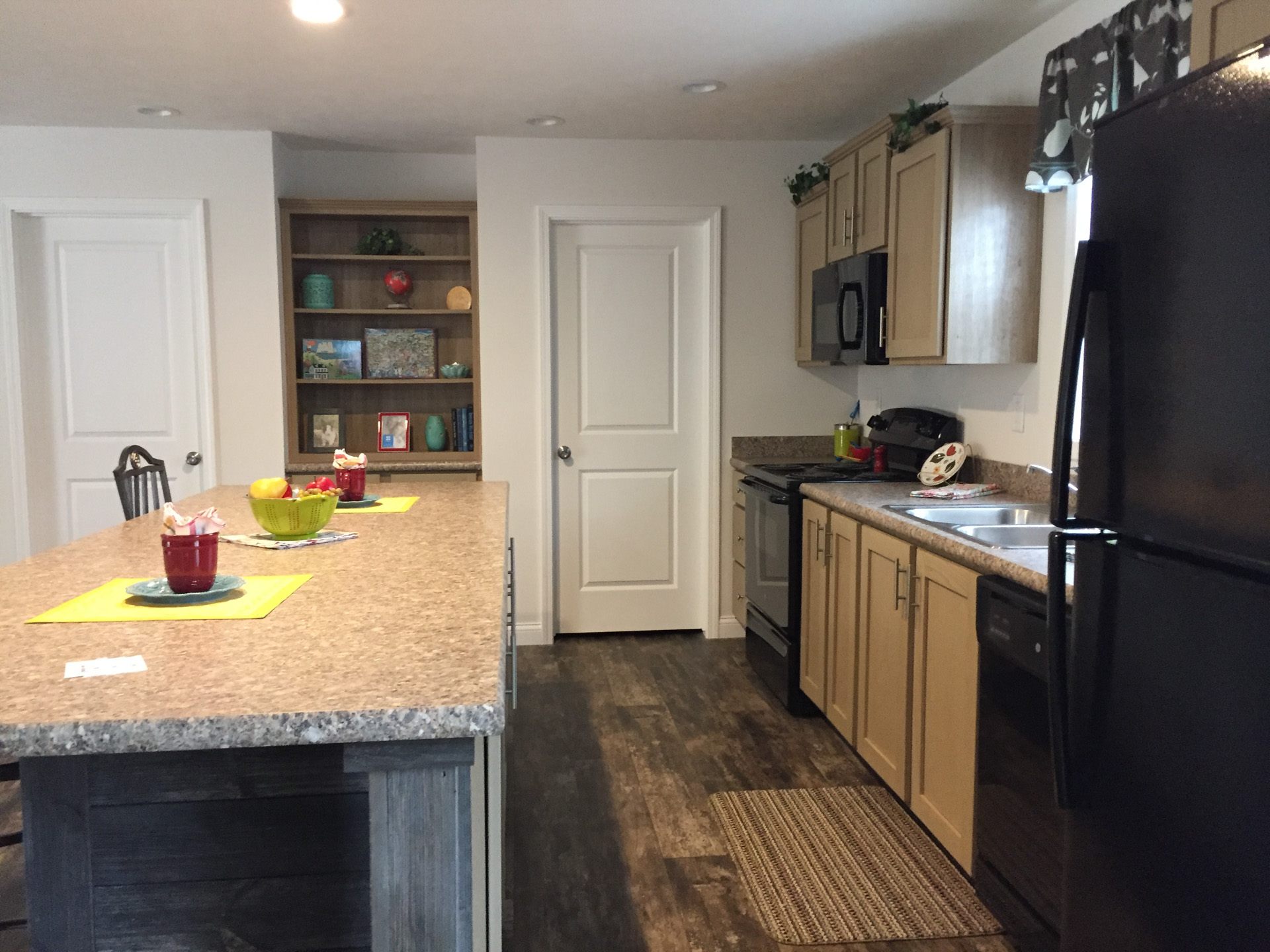 Limited kitchen with large pantry