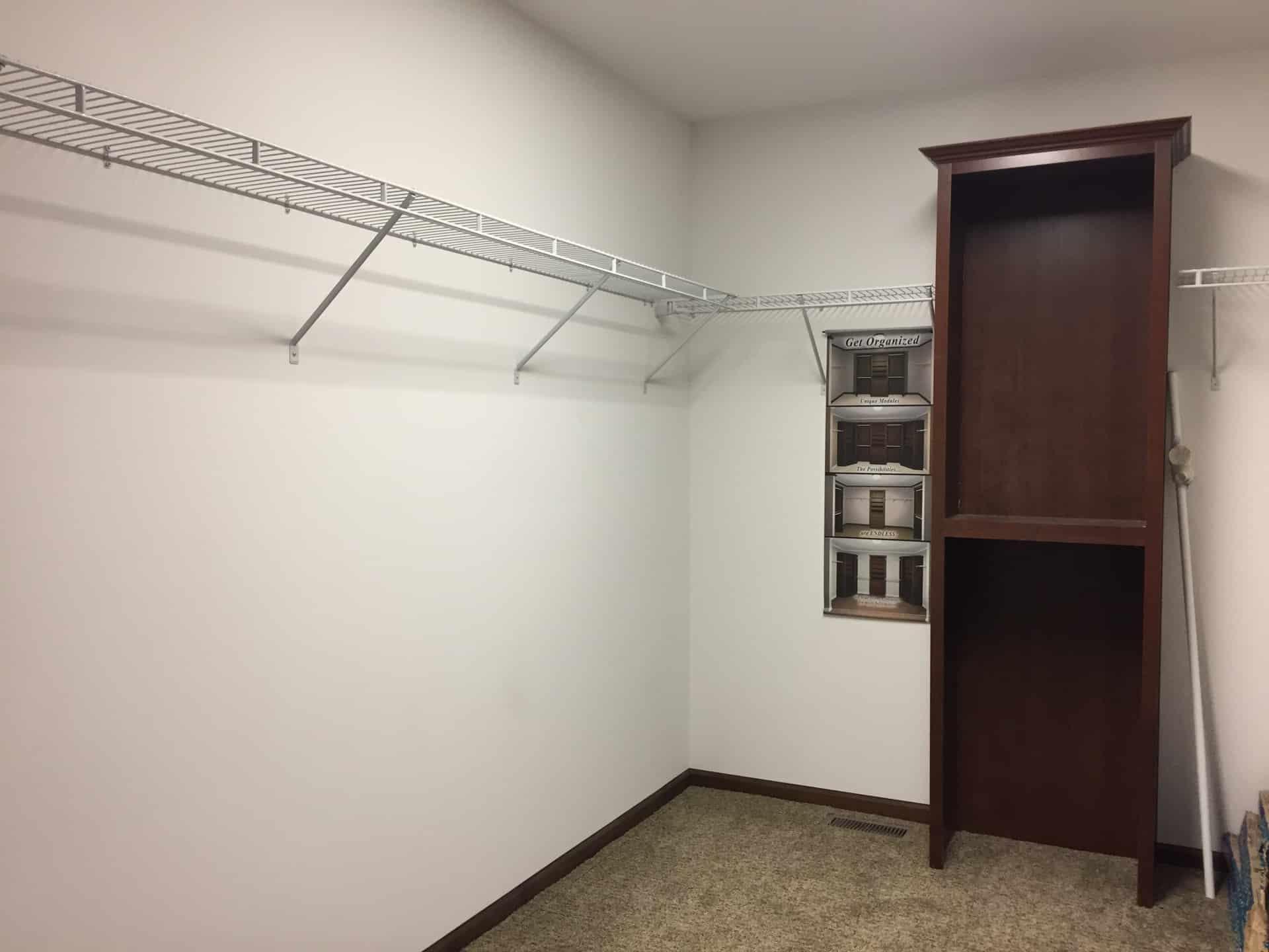 Lionel walk-in closet