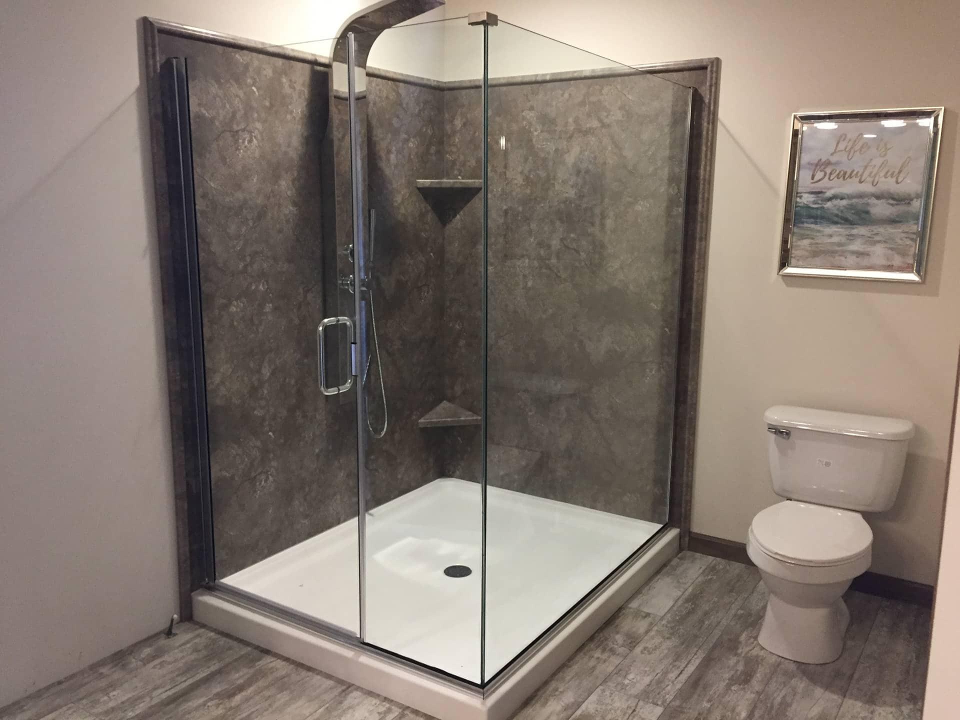 Barton glass shower