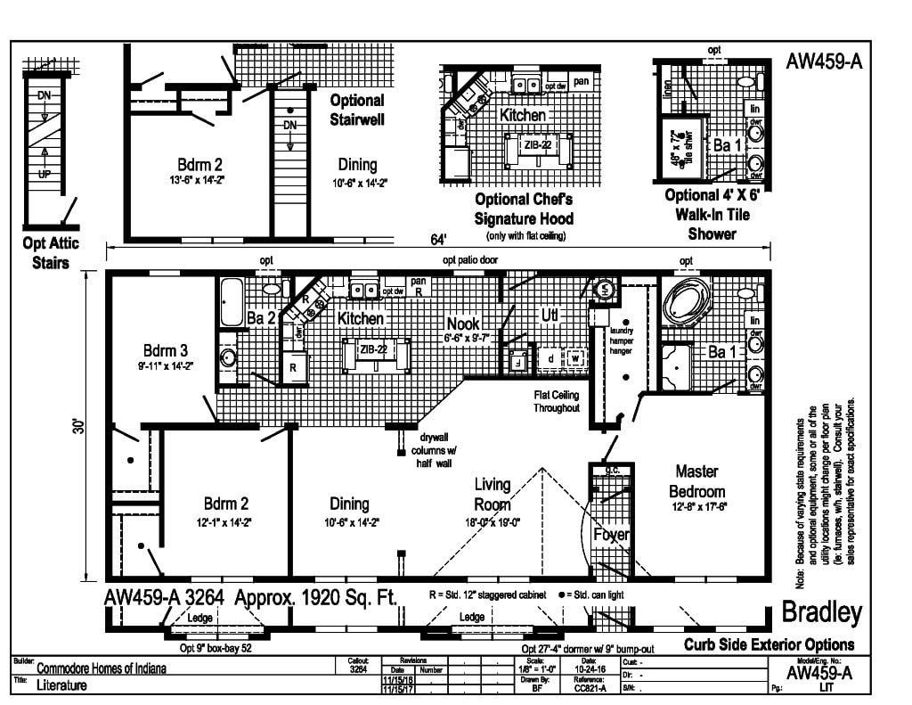 Commodore Bradley AW459A Floorplan