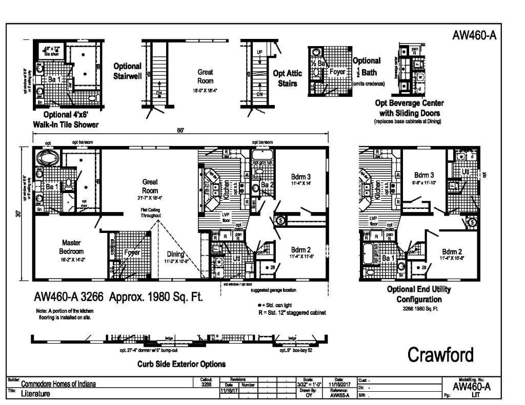 Commodore Crawford AW460A Floorplan