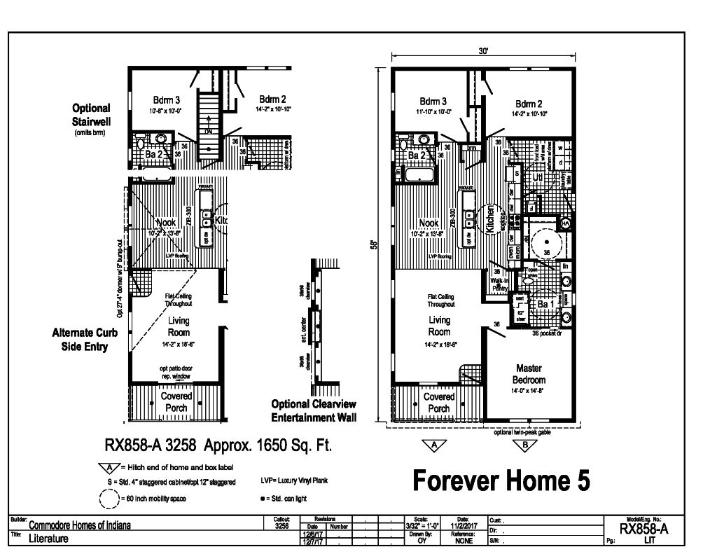 Commodore Forever Home 5 RX858A Floorplan
