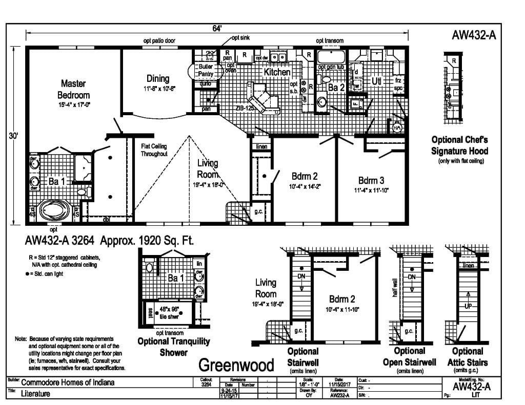Commodore Greenwood AW432A Floorplan