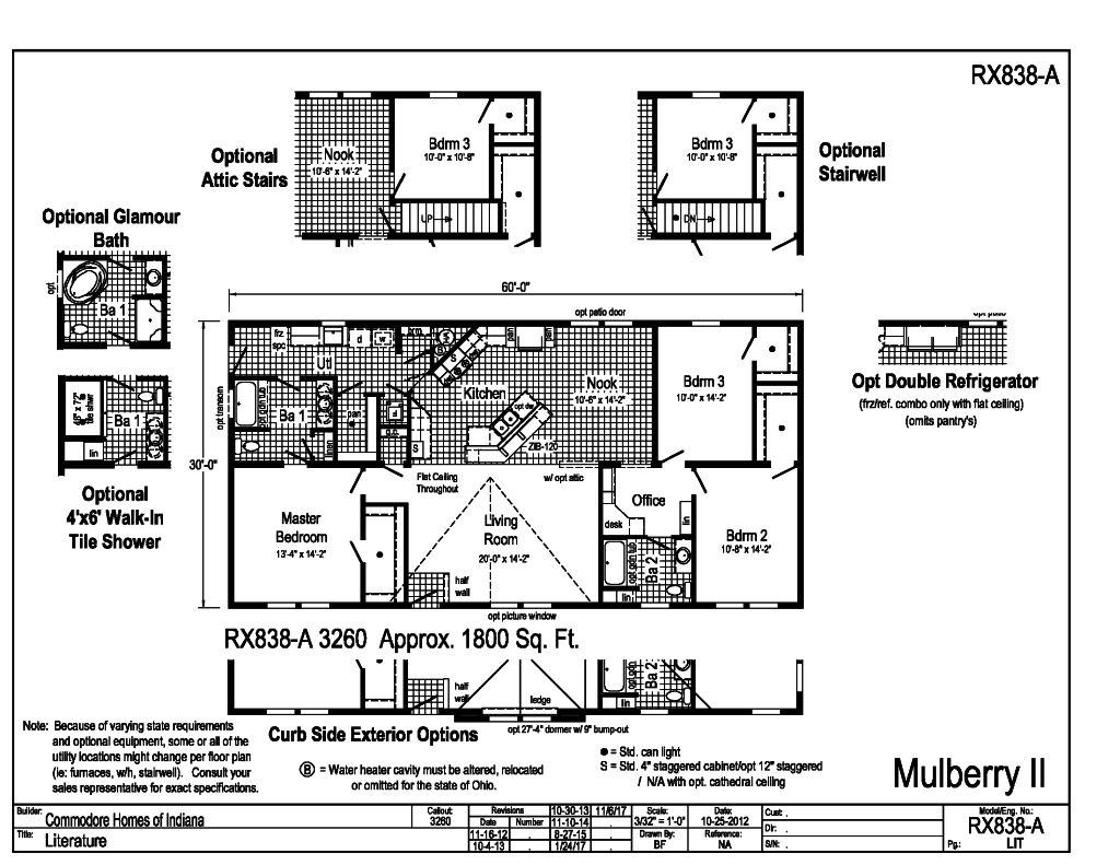 Commodore Mulberry II RX838A Floorplan