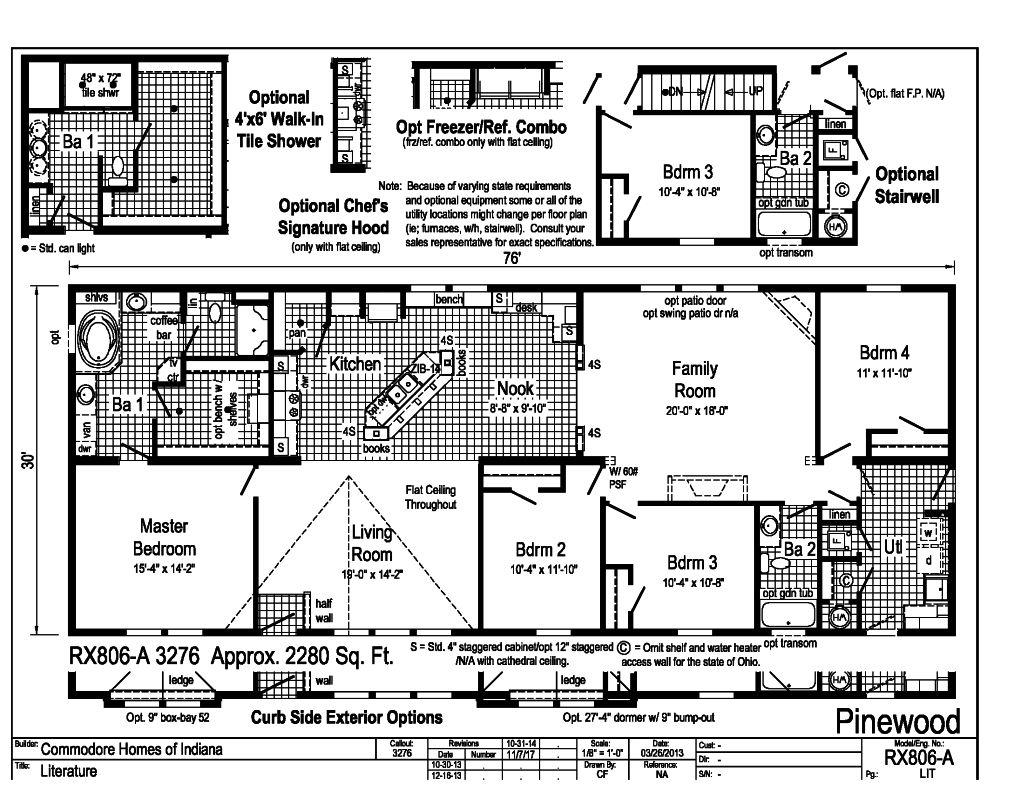 Commodore Pinewood RX806A Floorplan