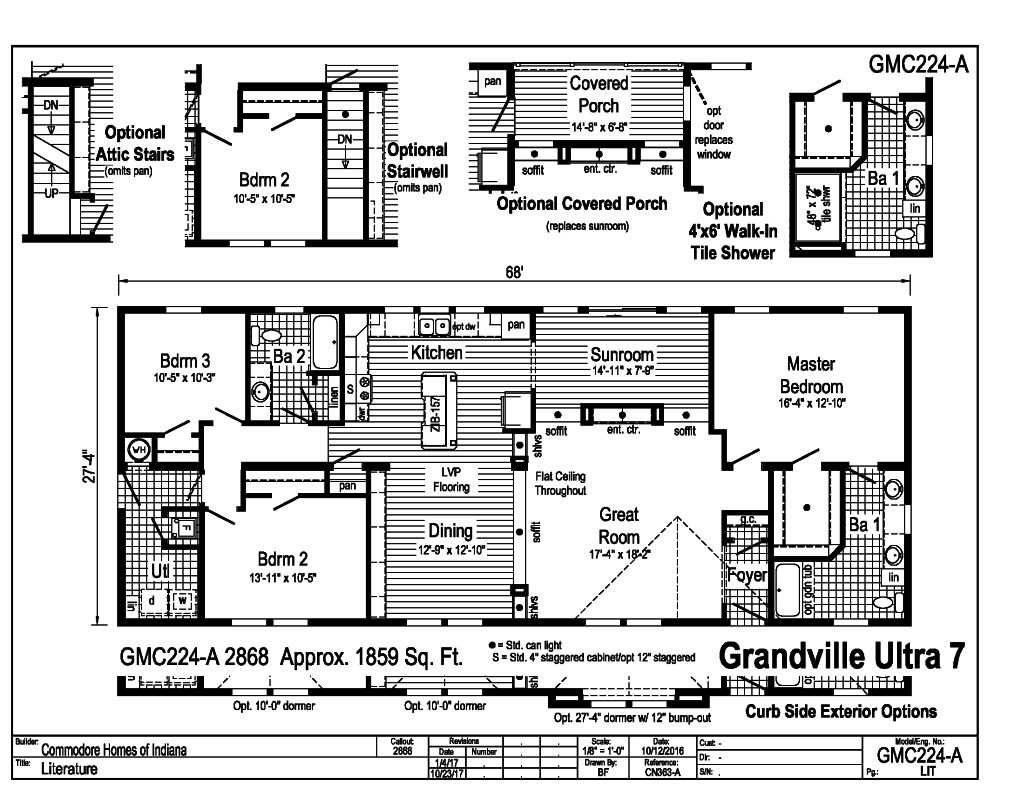 Commodore Ultra 7 GMC224A Floorplan