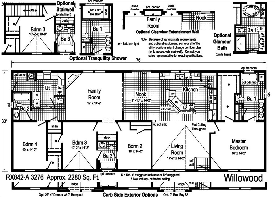 Commodore Willowood RX842A Floorplan Cropped