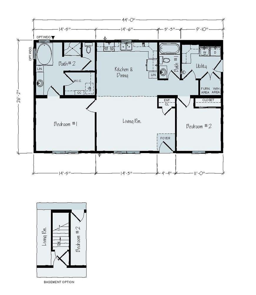Rochester Jefferson R34 Floorplan