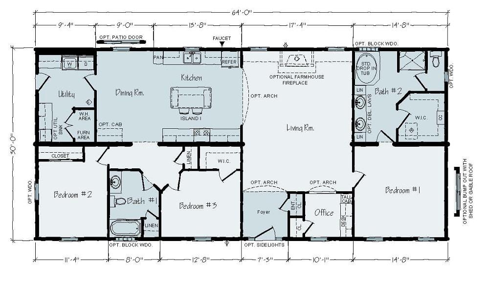 Rochester Roosevelt JR4A Floorplan