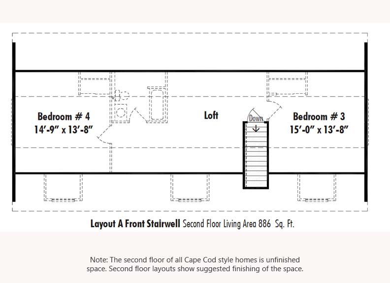 Unibilt Andover I Second Floor Suggested Layout Updated