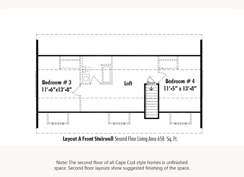 Unibilt Andover III Second Floor Suggested Layout Updated