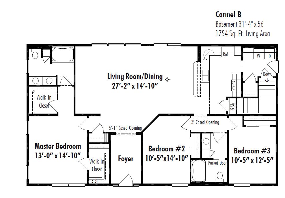 Unibilt Fresno Floorplan