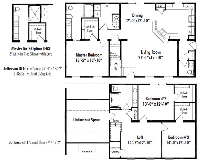 Unibilt Jefferson III E Floorplan