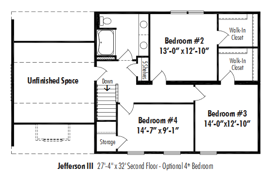 Unibilt Jefferson III Opt 4th Bedroom