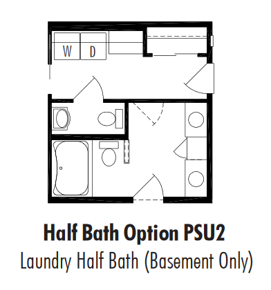 Unibilt Pasadena Half Bath Option Basement