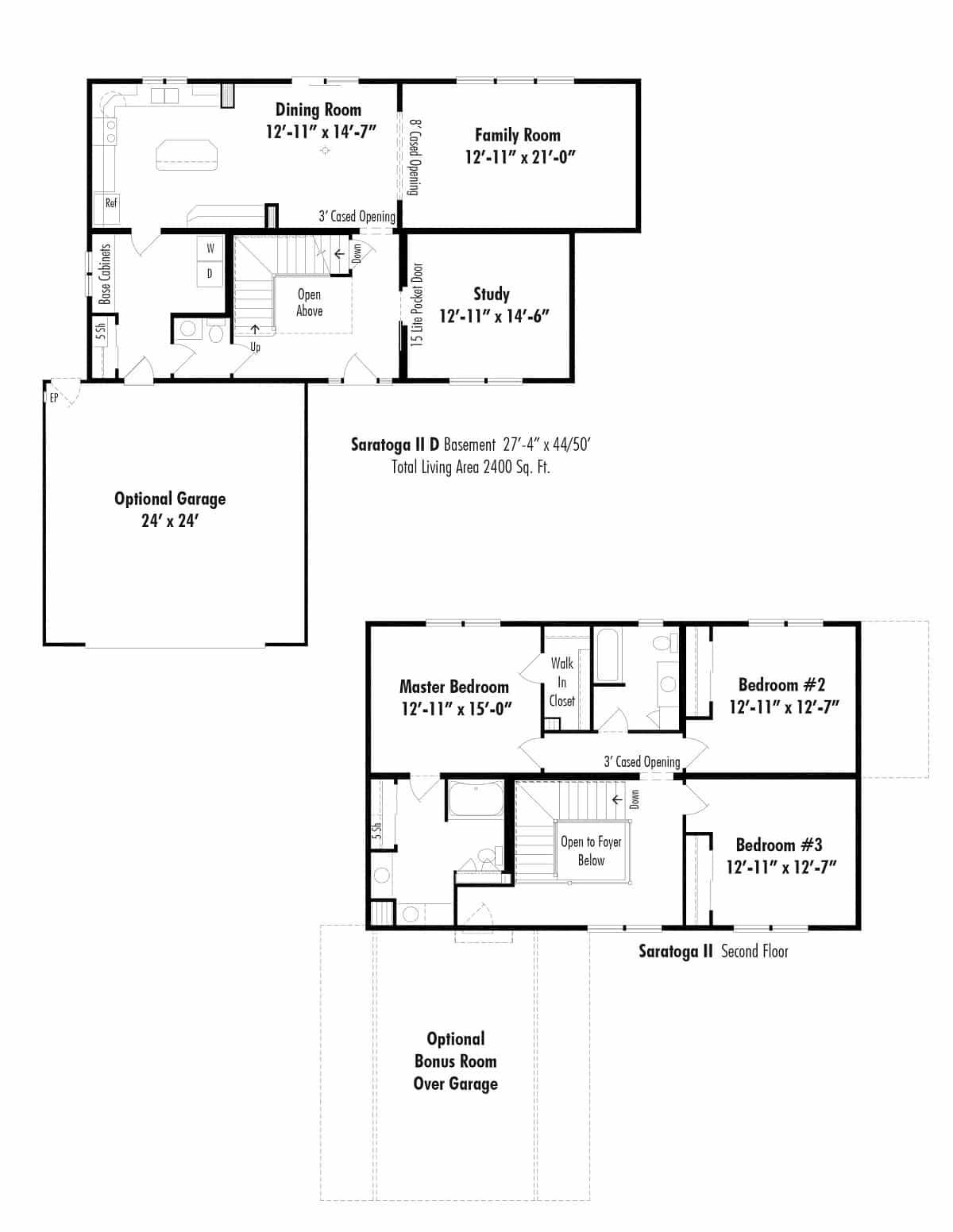 Unibilt Saratoga II D Floorplan
