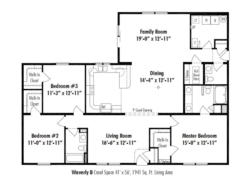 Unibilt Waverly B Floorplan