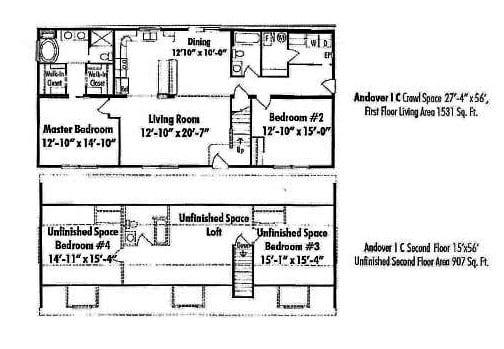 Unibilt Andover 1 C Jackson Floor Plan