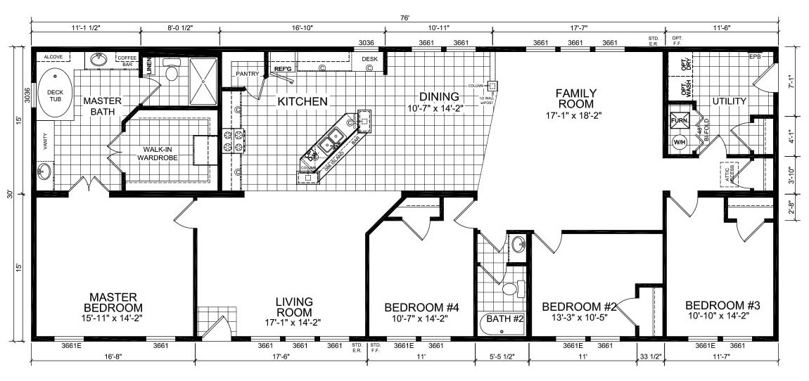Champion Barclay 7613 Floorplan