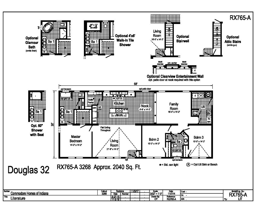 Commdore RX765A Douglas Floorplan