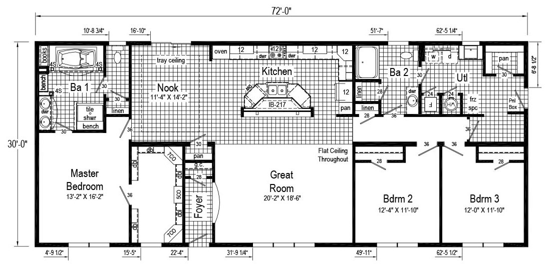 Commodore Princeton AW452 Henderson Floor Plan