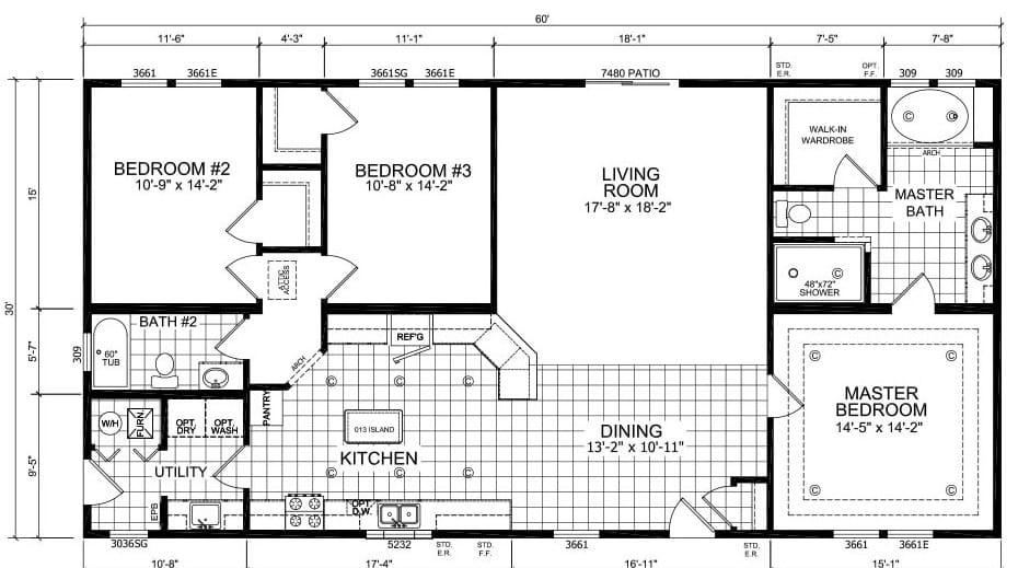 Champion Floor Plan Creston BC6019