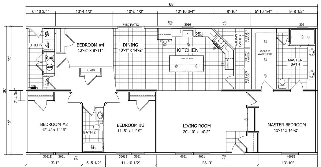 Champion Sagebrook DM6813 Floor Plan