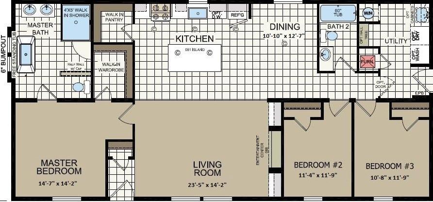 Champion Apex Gold Star 2860-235 Chillicothe Floor Plan